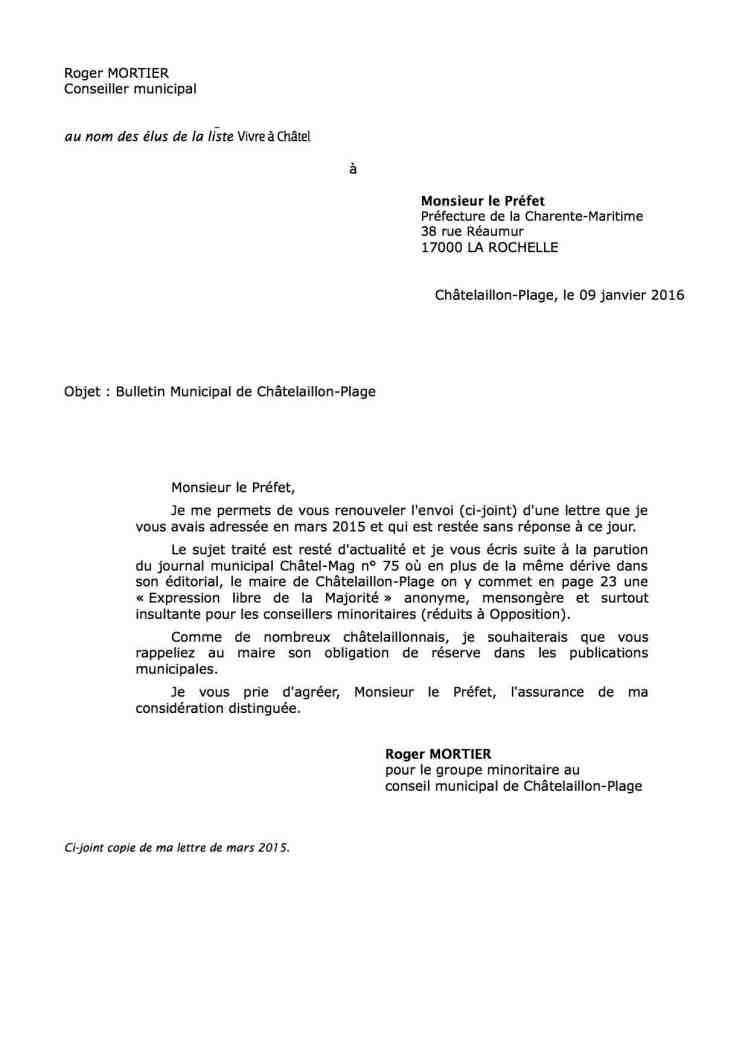 lettre au préfet - copie
