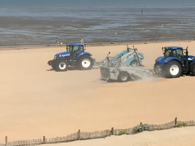 engins sur la plage